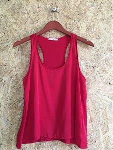 Camiseta vermelha cetim (P)