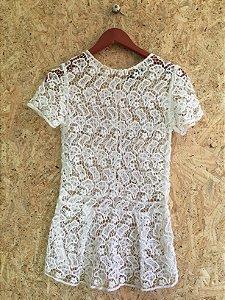 Blusa renda algodão branca (P) - Mixed
