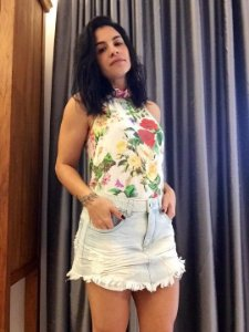 Blusa seda  frente única floral (36) - Raquel Mattar
