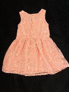Vestido renda rosa (G) - Milon