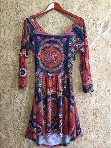 Vestido estampa étnica (G) - Farm