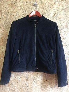 Jaqueta preta camurça (40)