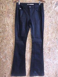 Calça preta encerada (38) - Zara