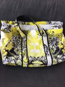 Bolsa praia amarela estampas (U) - Fruta Cor
