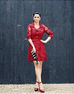 Vestido linha bordô (38) - Regina Salomão