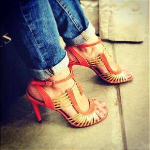 Sandálias tiras douradas (37) - Vicenza