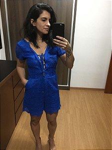 Macaquinho renda azul (38) - Ágatha