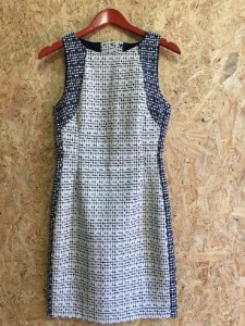 Vestido branco e azul (P) - Zara