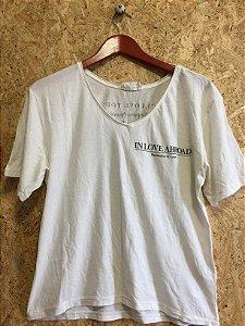 Camisa malha branca (M) - Zara