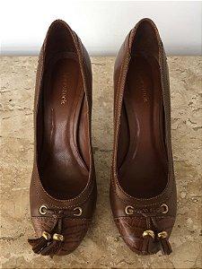 Sapato couro marrom (36) - Shoestock