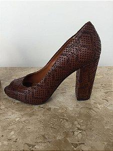 Sapato craquelado marrom (36) - Sonho dos Pés