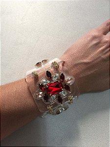 Bracelete acrílico transparente - Aramez