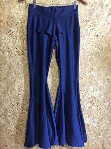 Calça azul marinho flare (P) - Plataforma Vogue