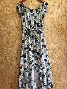 Vestido longo estampa folhas (PP) - La Levi