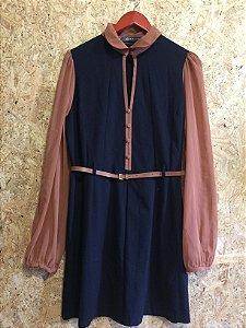 Vestido azul marinho (G) - Bobstore