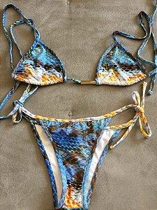 Biquini cortininha cobra (P) - Letté Beachwear