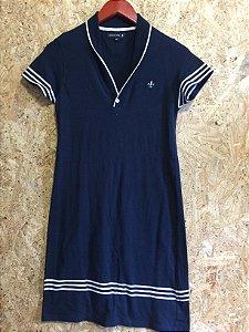 Vestido azul malha (PP) - Dudalina
