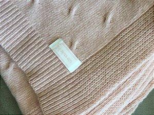 Manta tricot rosa (U) - Cayetana