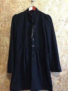 Sobretudo lã preto (M) - Pepe Jeans
