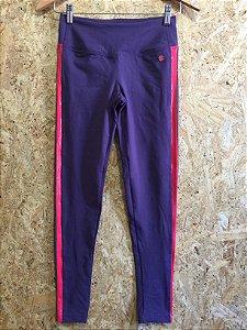 Calça fitness lateral rosa (P) - Track&Field