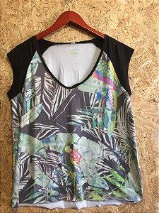 Blusa suede estampado (P) - Shoulder