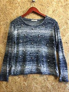 Blusa tricot pérolas (M)