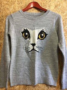 Tricot cinza gatinho (P)