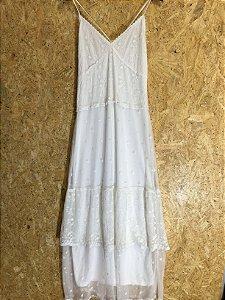 Vestido longo off White (P)