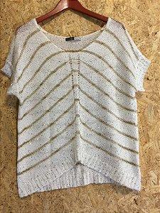 Blusa tricot e paetês (P) - K9