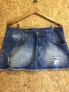 Saia jeans (42) - Espaço Fashion