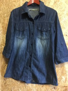 Camisa jeans manga 7/8 (42)