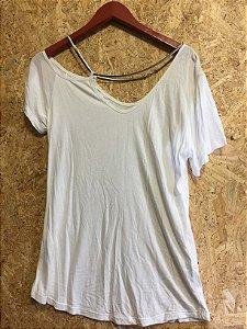 Blusa malha branca corrente (G)