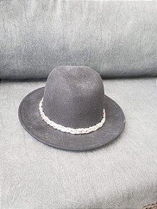 Chapéu feltro preto (M) - Zara