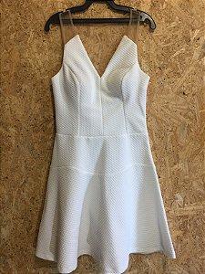 Vestido festa off white (38) - Regina Salomão