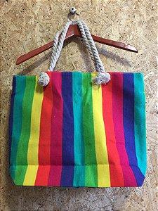 Bolsa praia arco -iris (U)
