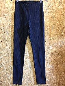 Calça legging azul risca de giz (38) - H&M