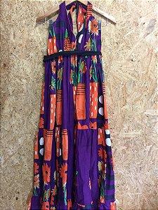 Vestido frente única longo estampas (P) - Dvance Apparels