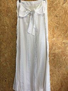 Saia longa branca (M) - Rosa Dahlia NOVO