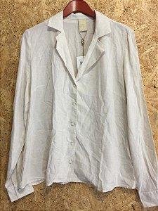 Camisa de linho cru (G) - Rosa Dahlia NOVA
