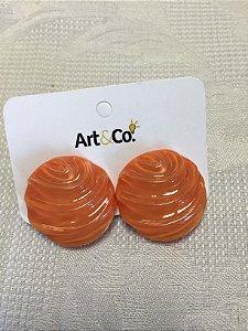 Brinco resina coral textura - Artco NOVO