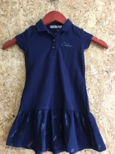 Vestido infantil marinho (2 anos) - Calvin Klein Jeans NOVO
