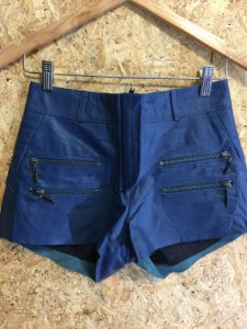 Short couro azul petróleo (PP) - Bo.Bô