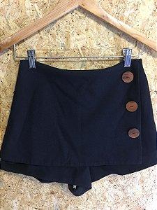 Short saia botões madeira (36) - Cris Barros