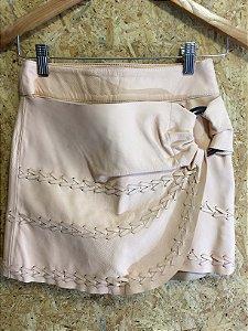 Short saia couro rose (34) - Lolitta