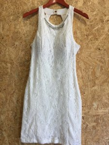 Vestido renda off white (G) - Etrange
