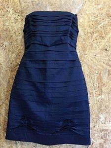 Vestido azul camadas (G) - BCBG NOVO