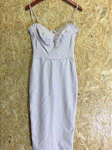 Vestido midi couro sintético (M) - Anne Fernandes