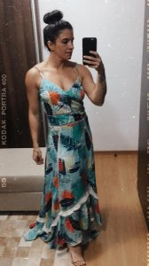Vestido longo linho (42) - Lozz