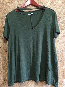 Blusa podrinha verde (G) - Zara