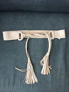 Cinto couro nude (80)